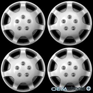 "4 New Silver 14"" Hub Caps Fits Chrysler Mini Van Car Center Wheel Covers Set"