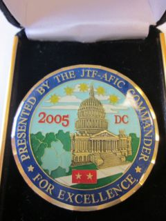 Major General Presidential Inauguration Joint Task Force Challenge Coin