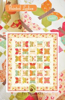 Fig Tree Painted Ladies Quilt Pattern Quilting Sewing Fabric
