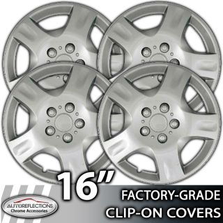 2003 2007 Nissan Sentra 156 Silver Clip on Hubcaps Wheel Covers