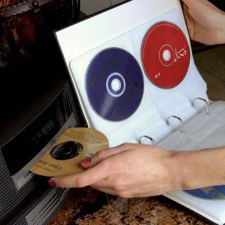 ... Bellagio Italia 3 Black CD DVD Storage Binders ...