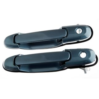 98 03 Toyota Sienna Exterior Outside Door Handle Blue Front Pair L R 2pcs