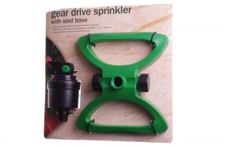 Gear Drive Yard Lawn Garden Grass Long Distance Sprinkler Hose Irrigation New