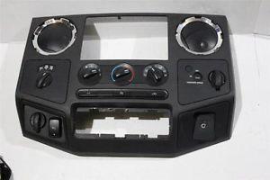 08 10 Ford Superduty F250 F350 Powerstroke Wood Grain Dash Bezel Radio Surround