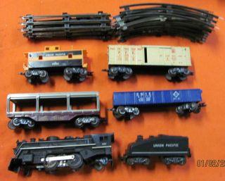 Marx 52875 O Scale 6 Unit Electric Train Set 666 Smoke Engine Track