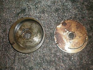 1951 Evinrude Fleetwin 7 5 HP Outboard Water Pump Housing and Impeller Plate