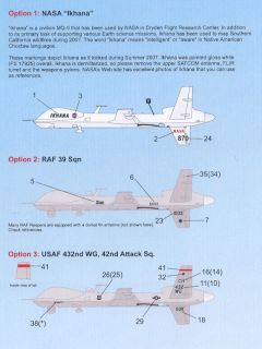 Caracal Decals 1 48 MQ 9 Reaper Predator Drone UAV