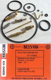 Honda ATC200 x ATC200X Keyster Carb Rebuild Kit 1986 1987