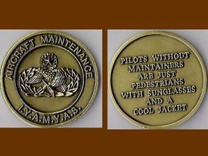 Aircraft Maintenance Badge Air Force Challenge Coin Iyamyas