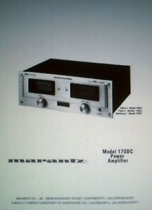 Marantz Model 170DC Power Amp Installation Operation Maintenance Guide Bound Eng