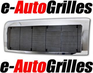 09 12 Ford F150 Chrome Black Package Billet Grille Full Replacement Grill Shell