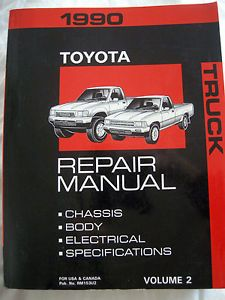 1990 Toyota Truck Factory Shop Repair Service Manual Engine Clutch Transmission