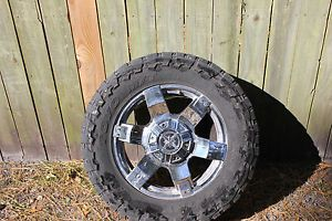 20 inch Chrome Rims ion 185 with Toyo Mud Tires