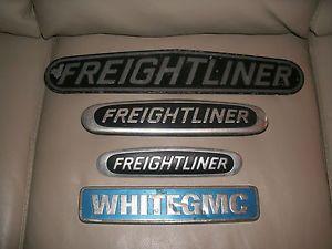 4 Truck Emblems Freightliner White GMC Truck Accessories Man Cave