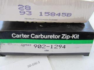 Chrysler Dodge Plymouth Holley 6520 Carb Rebuild Kit Carter 902 1294