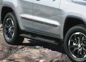 11 2013 Jeep Grand Cherokee Black Side Steps Nerf Bars Running Boards Mopar