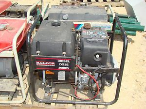 Baldor DG3E 3KW 3 KW 3000 Watt Portable Industrial Diesel Engine Generator