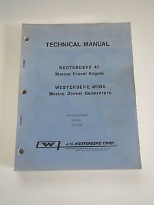 80 Westerbeke 40 Marine Diesel Engine WPDS Generator Technical Manual Edition 8
