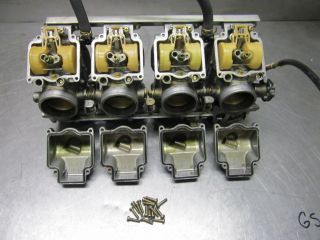 Kawasaki 1997 ZX900 B Keihin Carburetors Carbs Throttle Slides Choke 40mm
