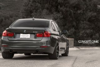 "20"" Concept One CS6 6 0 Concave Black Staggered Wheels Rims Fits BMW E70 X5"