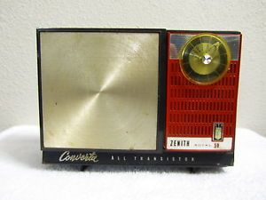 """Vintage 1950s Antique Zenith Converta """"Boombox"""" Old Transistor Radio Great Color"""