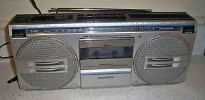 Magnavox D8130 Stereo Radio Cassette Recorder Player Boombox Ghettoblaster