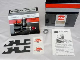 RARE Vintage Awesome 1991 Cox Black Widow 049 Engine RC Model Flying No 150