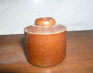 Civil War Era Antique Stoneware Ink Bottle 3