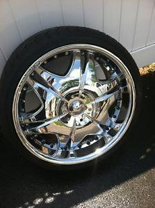 "20"" Chrome Giovanna Ararat Wheels w Toyo Tires"
