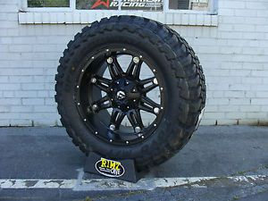 "20"" Fuel Off Road Hostage Black Toyo MT 35x12 50R20 35"" Mud Tires Rimzoneonline"