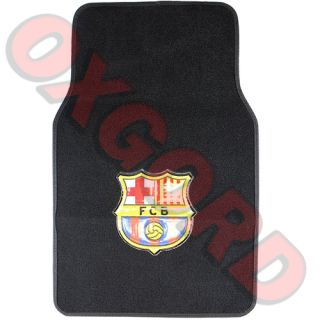 4pc Set Car Floor Mats Barcelona Futbol Soccer Foot Ball Carpet Rug LRG Fit