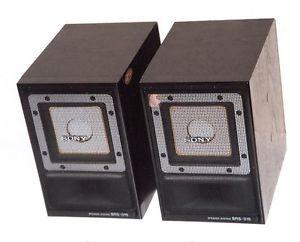 Vintage Sony Bookshelf Speakers Model SRS 015 from The 1980'S
