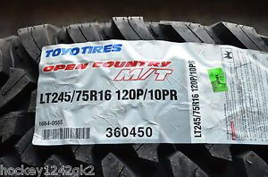 4 New Lt 245 75 16 Toyo Open Country M T 10 Ply Mud Tires