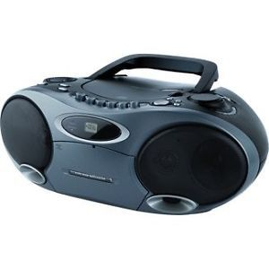 Memorex MP4907BK Black CD  Boombox with Cassette Player and Am FM Radio