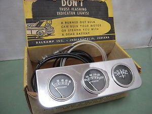 Vintage Stewart Warner Gauge Panel Oil Amp Temp 1932 Ford Flathead Hot Rod