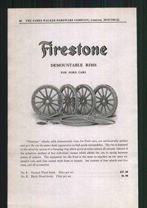 1918 Ad Firestone Tire Wood Wheel Rims Ford Cars Autos Model T