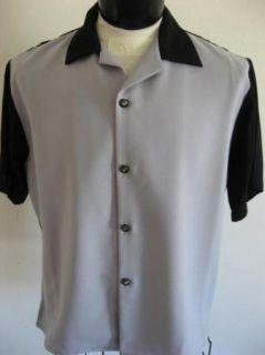 New Rockabilly Bowling Pins Gray Bowling Shirt XXL 2XL