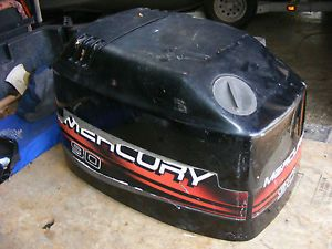 1999 Mercury Outboard Cowling Top Hood Off 90 HP 3 Cyl