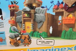Fisher Price Imaginext Castle Catapult Toy Set Medieval Castle Knight Weapon New