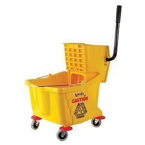 Lavex Yellow 36 Quart MOP Bucket Wringer Combo