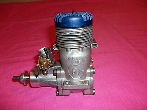 Vintage Super Tigre G60 Blue Head RC Model Airplane Engine w Baffle Exhaust