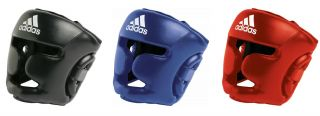 Official Adidas Response Boxing Head Guard Size s XL Black Blue Red Protective