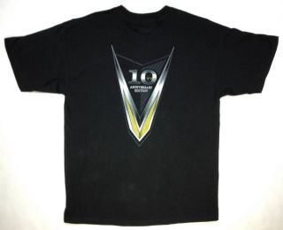 V24 Victory Motorcycle Mens s s T Shirt Black 10th Anniversary Med XL 2XL