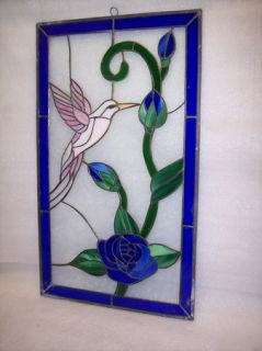 Humming Bird Motor Home Window Stained Glass
