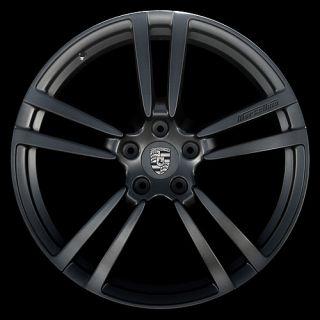 "New Set of 4 22"" inch Porsche Cayenne Turbo II Style Wheels Rims Matte Black"