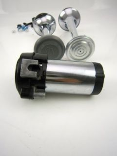 Chrome Air Horn Kit Compressor Car Truck Accessories Ford Chevy Dodge