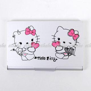 Hello kitty id holder hello kitty credit business card holder case box 2hzj reheart Choice Image