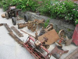 Gravely Garden Tractor Rotary Hoe Cultivator Reel Mower Attachment Parts Model L