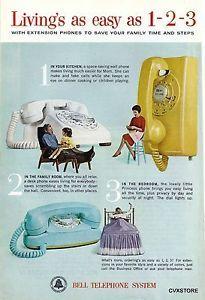 1963 Bell Telephone System Original Ad Vintage