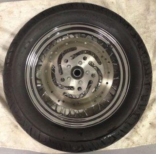 "Harley Davidson Touring 16"" Spoke Wheel Continental Tire Rotors 2000 2007"